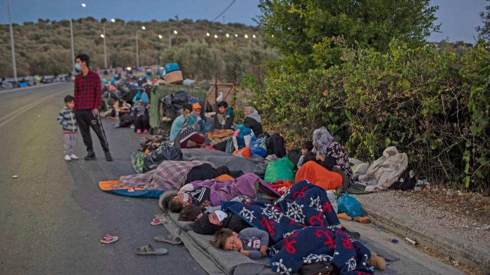 Aufnahme von Flüchtlingen aus dem Lager Moria (Lesbos, Griechenland)